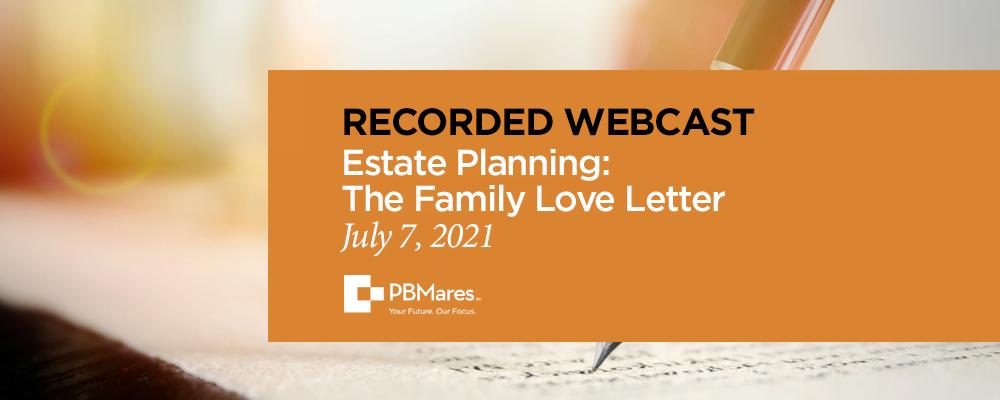 family love letter webinar