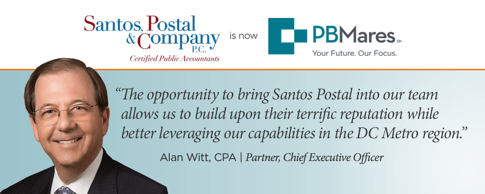 Santos Postal Merger - Rockville CPA firm