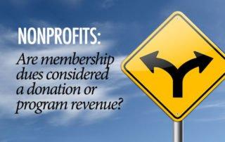 Membership Dues Donation or Revenue?