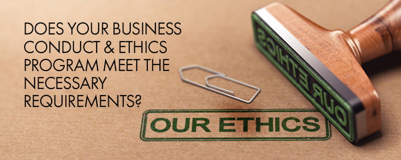 government contracting business conduct and ethics