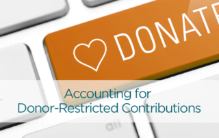 accounting for donor restricted contributions