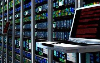 server room in data center
