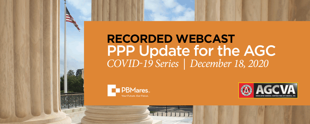 ppp update for contractors pbmares