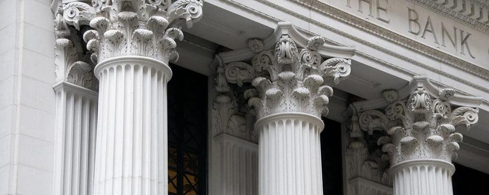 Bank Exterior with Columns