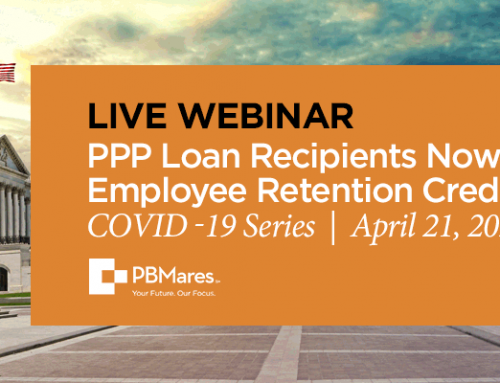 Webinar – PPP Loan Recipients Eligible for ERC
