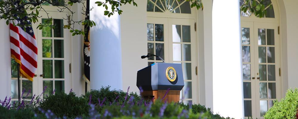 Image of the White House Podium