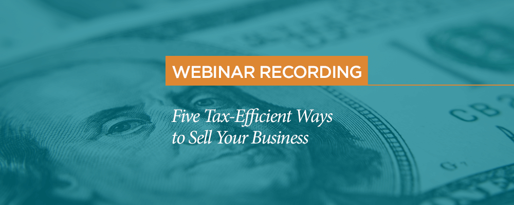 webinar recording pbmares tax strategies to sell your business
